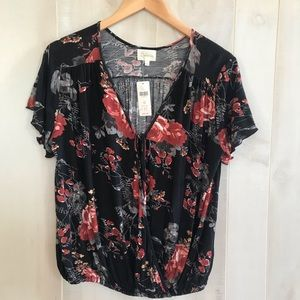 Anthropologie new Deletta floral top